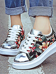 Women's Spring / Fall Creepers Leatherette Outdoor / Casual Platform Lace-up Multi-color