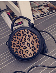 Women PU Hobo Tote-Black / Animal Print