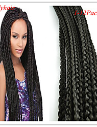 2016 New Fashion Snthetic Box Braid Crochet Twist Braid Hair Kanekalon Fiber