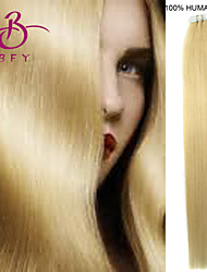 Tape In Human Hair Extension #613 Light blonde color 20pcs Remy  Brazilian Virgin Straight Skin Weft Hair Extensions