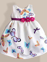Girls Dress Fan Flower Embroider Party Pageant Christmas Princess Children Clothes Dresses