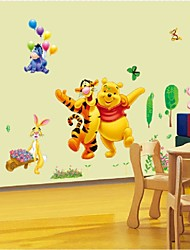 Cartoon Animals Pooh Tree Vinyl Wall Stickers For Kids Rooms Home Decor Child Sticker Wall Art Decals Home Decoration