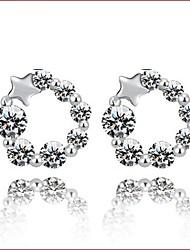 Boucle Forme d'Etoile Boucles d'oreille goujon Bijoux 1pc Mariage / Soirée / Quotidien / Décontracté / Sports Argent sterling / Zircon