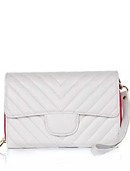 Clutch / Kaart/pasjeshouder / Mobile Phone Bag - Wit / Zwart - Baguette - Imitatieleer - Dames