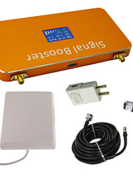 New LCD Display DCS 1800MHz Mobile Phone Signal Booster with Whip and Panel Antenna Kit Coverage 1000m² Gold