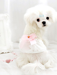 Dog Coat / Clothes/Clothing White Summer Fashion
