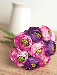 9 Heads A-Bunch Camellia Roses Flowers Silk Flower Silk Flower Artificial Flowers for Home Decoration Flower Kit