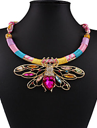 MPL Fashion Bohemia hollow butterfly pendant diamond necklace
