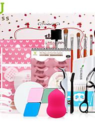 recourbe cils / houppette / maquillage coton bâton / sourcils pochoir / pinceaux de maquillage des cils étendues / cils levé