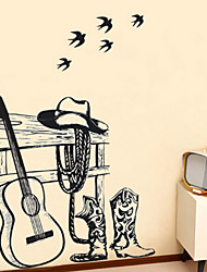 Wall Stickers Wall Decals Style Dick And Cowboy PVC Wall Stickers