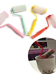 Silione Paint Roller Shape Infuser Loose Tea Leaf Strainer Herbal Spice Filter Diffuser(Random Color)