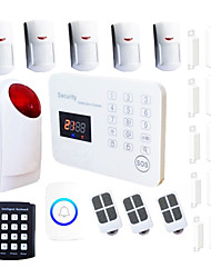 Burglar House GSM Alarm System With Wireless Keypad Strobe siren SMS Android  Alarme Residencial