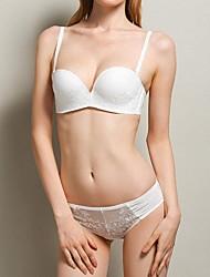 Women's Sexy One-Piece Demi-cup Lace Bras / Underwire Detachable Straps Bras & Panties Sets