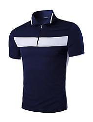 Herren Freizeit Polo - Patchwork Kurz Baumwolle / Polyester