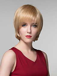 Straight Smooth Human Virgin Remy Hand Tied-Top Capless Hair Woman Wigs