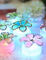 bloemen versierde LED kaars voor de verjaardag kerstfeest geleid verjaardagskaars