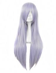 фиолетовый цвет косплей синтетические парики дешевые прямые парики модные парики
