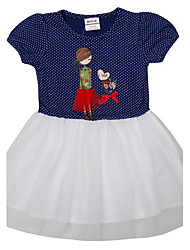 Children's Dress Kids Summer Short Sleeve Girls Dresses(Random Printed)