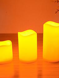 LED Kerzen Set für Geburtstag Weihnachten Partei drei unterschiedlich große Kerzen s / m / l