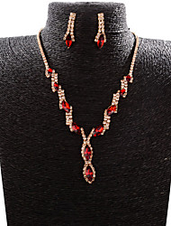 May Polly Fashion beautiful diamond necklace earrings set dinner