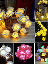 3M 30 LED Rose Flower Fairy String Light Wedding Party Christmas Decoration