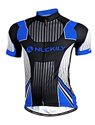 Nuckily Cycling Jersey Men's Short Sleeve BikeBreathable Quick Dry Anatomic Design Moisture Permeability Front Zipper Water Bottle Pocket