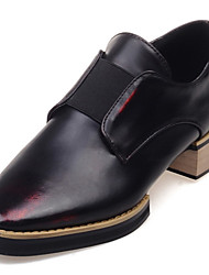 Women's Shoes Leatherette Low Heel Pointed Toe Loafers Office & Career / Casual Red / Gold