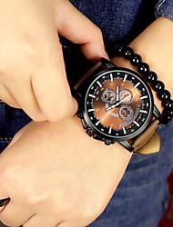 Big Dial Casual Watch Fashion Men Luxury Brand Analog Sports Military Watches Leather Quartz Relogio Masculino Reloj Hombre Wrist Watch Cool Watch