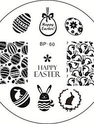 1шт пасхальный кролик яйцо Nail Art штамповки пластины шаблона изображения