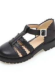 Women's Shoes Flat Heel Round Toe Flats Outdoor / Dress / Casual Black / Pink / White / Beige