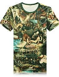 New Mens T-shirt printing fashion slim short sleeved T-shirt personality Summer Youth casual T-shirt
