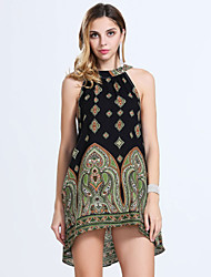 Women's Fashion Casual / Beach / Holiday Floral Loose Mini Dress