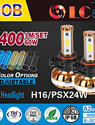 liancheng® 60w 6400lm 9 ~ 32V hohe Helligkeit cob LED-Scheinwerfer-Kit-5202 / psx24w / H16 für Auto, Off-Road, utv, atv