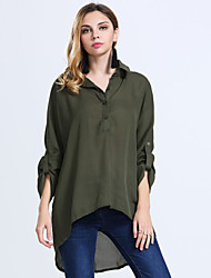 Women's Plus Size Casual /  Beach / Holiday Chiffon Long Shirt (XS-6XL)