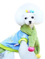 Cães Casacos Azul / Rosa Inverno Da Moda