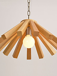 Max 60W Retro / Country Wood/Bamboo Pendant Lights Living Room / Bedroom / Dining Room / Kitchen