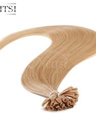 """neitsi 20 """"1g / с 50g кератина слияние у ногтей наконечник прямые Ombre расширения человеческих волос # 27"""
