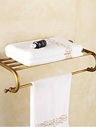 Towel Bar , Traditional Antique Copper Wall Mounted
