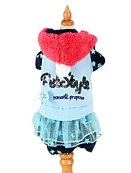 Dog Clothes/Jumpsuit / Dress Blue / Pink Dog Clothes Winter / Spring/Fall Letter & Number Fashion / Casual/Daily