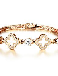 Lucky Clover Ms 18K Gold Bracelet