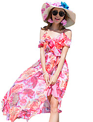 Women's Holiday / Beach Floral Chiffon / Swing Dress , Strap Maxi Others