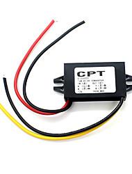 12v para 5v módulo de tensão redução de corrente contínua conversor de potência da motocicleta automóvel