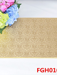 Flower Pattern Leather Without Washing Placemat Dining Table / Wedding Banquet Dinner / Table Decoration / Weddings