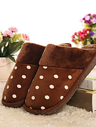 Men's Shoes Casual Cotton Slippers Blue / Brown