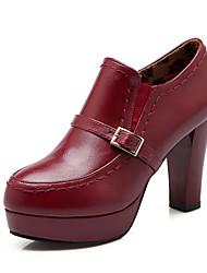 Women's Shoes Leatherette Stiletto Heel Heels / Platform / Comfort / Pointed Toe / Closed Toe Heels Office & Career /