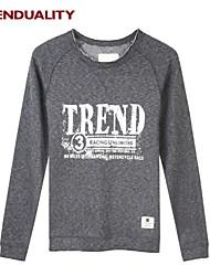 Trenduality® Herren Rundhalsausschnitt Lange Ärmel T-Shirt Dunkelgrau - 47041