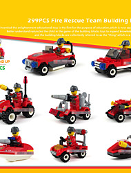 8piece/lot Fire Rescue Models Building Toy Plastic Blocks Compatible Bricks Set For Children Enlighten Educational