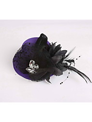 Women's / Flower Girl's Feather / Fabric / Net Headpiece-Wedding / Special Occasion / Casual Fascinators 1 Piece