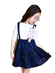 Girl's Blue / Yellow Dress,Cartoon Cotton Spring / Fall