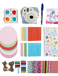 Fujifilm Instax Mini 8 Instant Photo Polaroid Camera Accessory Kit Gift Set (Mini Film Bag Sticker Filter Album)